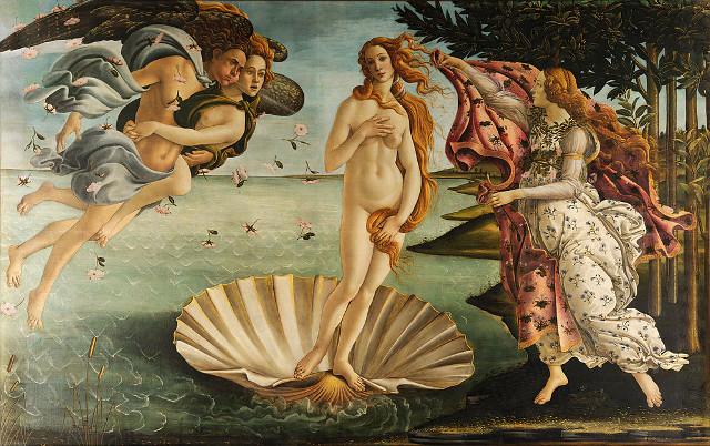 Die Geburt der Venus von Sandro Botticelli (Bild: public domain)