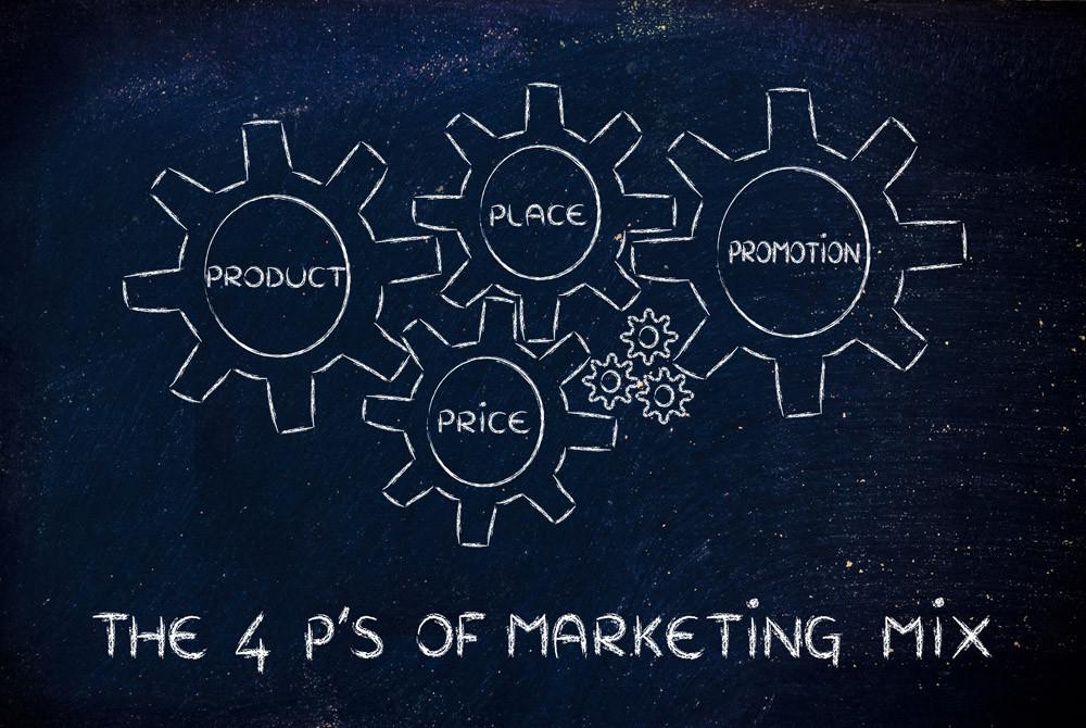 """Die berühmten """"4 P"""" vom klassischen  """"Marketing-Mix"""" (Bild: aithie – fotolia.com)"""