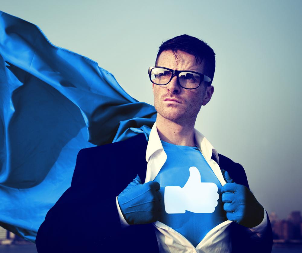 Superheld für soziale Medien